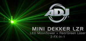 ADJ Mini Dekker LZR - - tradycyjny moonflower z LED