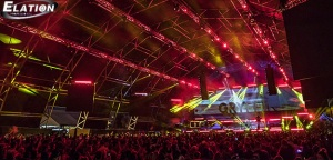 Elation Lighting na Life is Beautiful Festival w Las Vegas