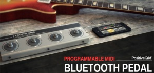 Kontrolery nożne Bluethooth MIDI od Positive Grid