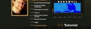 KURZWEIL PC3 TUTORIALS DVD