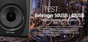 TEST: Behringer Studio 50USB i Media 40USB - Monitory studyjne i interfejs audio w jednym?