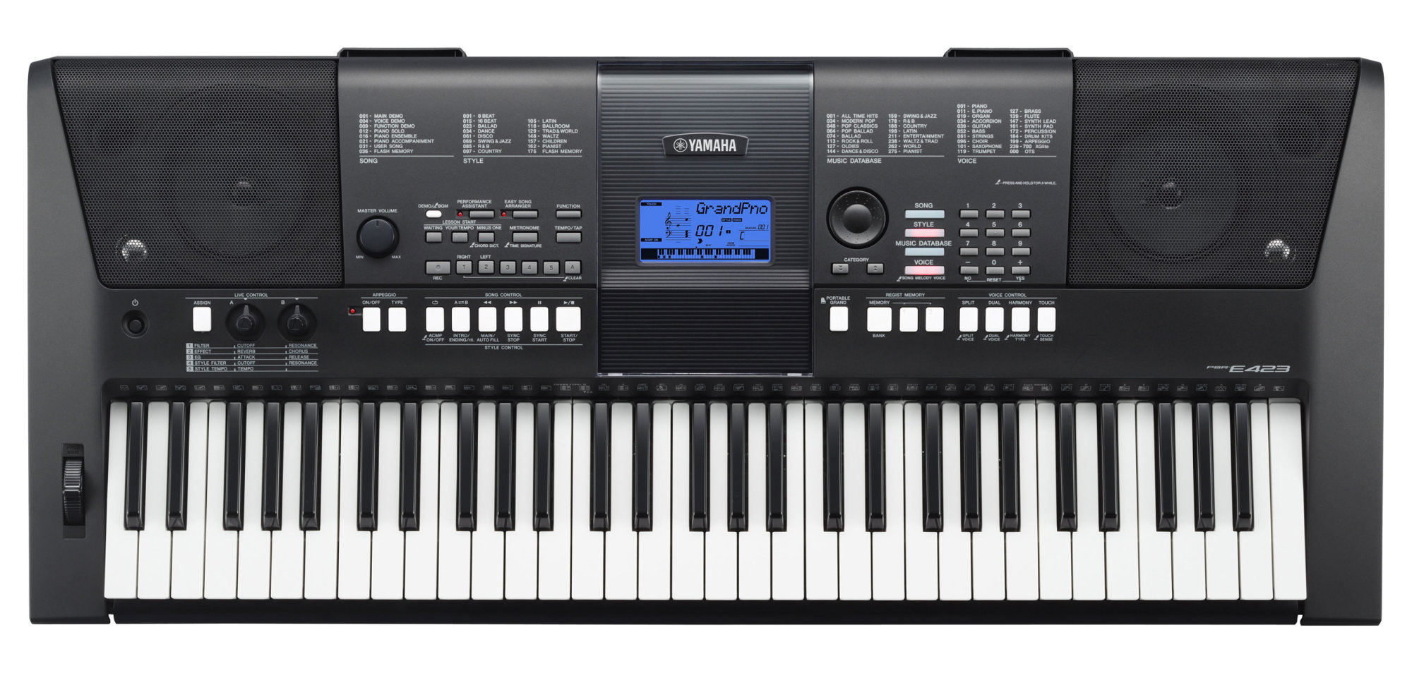 keyboard edukacyjny yamaha psr e423 infomusic pl. Black Bedroom Furniture Sets. Home Design Ideas