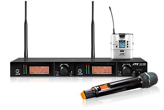 Двухканальная uhf-радиосистема jts us-936kd/mh-936k (общий вид)