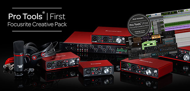 ProTools First Creative Pack dodatkiem do interfejsów Focusrite
