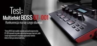Test multiefektu gitarowego BOSS GT-001