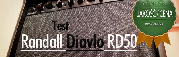 Randall Diavlo RD50 wyróżniony w testach Infomusic.pl