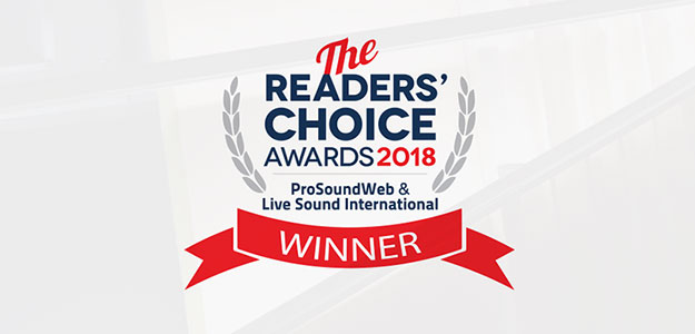 ProSoundWeb Readers Choice Product Awards 2018
