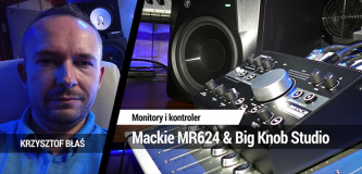 Monitory Mackie MR624 + kontroler Big Knob Studio