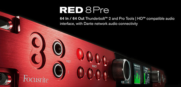Red 8Pre - Interfejs z przedwzmacniaczami Red Evolution
