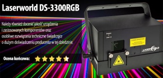 Test lasera Laserworld DS-3300RGB