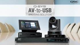 Q-SYS AV-to-USB Bridging Solution Overview