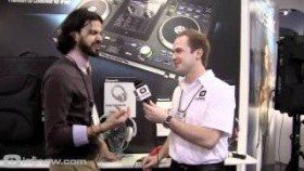 Numark Electrowave and Redphone Headphones and Headphone stick at NAMM 2012 with IDJNOW.COM