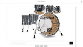 Sonor SQ2 Drum System 3D Configurator Walkthrough