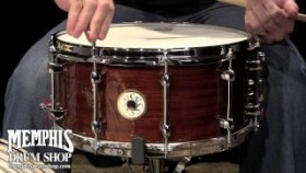Sakae 14 x 6.5 Bubinga Snare Drum - Natural Gloss