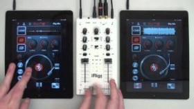 Scratching on iPad with DJ Rig and iRig MIX