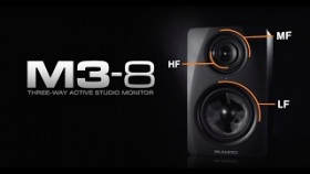 M-Audio || M3-8 Black Studio Monitors