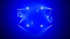 światła dj disco Fractal Lights - Show MINI LED GOBO DOUBLE LED SPOT BAR LED 24x3W  PAR LED 9x10W