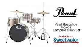 Pearl Roadshow 4-piece Complete Drum Set Review by Sweetwater